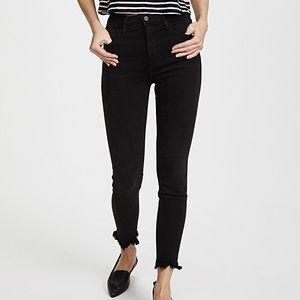 FRAME Ali High Waist Frayed Skinny Jeans Like New!